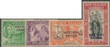 Samoa SG215-8 Peace Issue of New Zealand overprinted Western Samoa set of 4